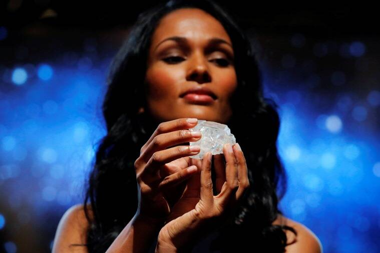 The 1,190-carat diamond was unearthed in Botswana in November 2015. (Photo: Reuters)