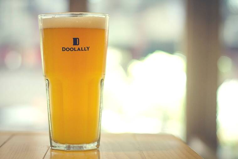 The Belgian Witbier at Doolally has a citrusy, lemonade-y tang.