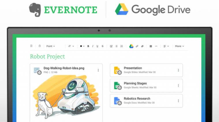 Evernote, Android, Google Drive, Evernote Chrome, Evernote Drive feature, Google Drive on Evernote, access Google drive on Evernote, Drive icon, Drive on Evernote, offine notes, Evernote apps, Evernote Google Drive integration, Evernote web app, Google, technology, technology news
