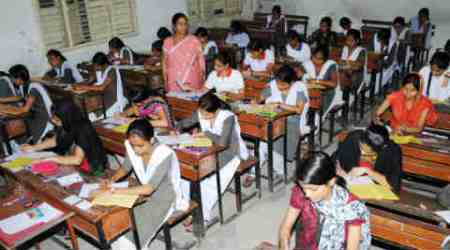GSHSEB board exams, gujarat board, board exam cheating, students caught with phone, FIR, indian express news
