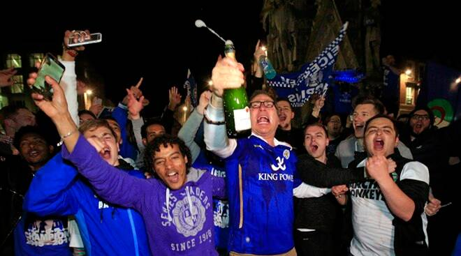 Leicester City, Leicester, Leicester City fans, Leicester celebrations, Leicester pictures, Leicester EPL title photos, Leicester football photos