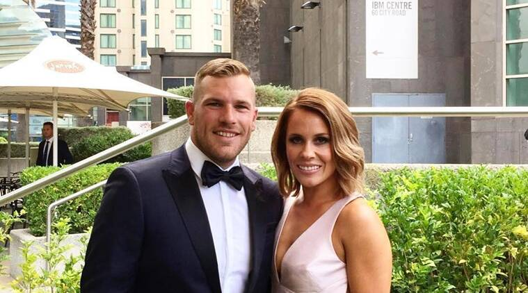 Aaron Finch, Finch, Amy Griffiths, Griffiths, Finch Griffiths, Finch engaged, Finch girlfriend, Finch cricketer engaged, Finch cricket IPL, Finch IPL, IPL news, IPL