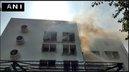 Fire breaks out at Times of India building in Delhi, nocasualty