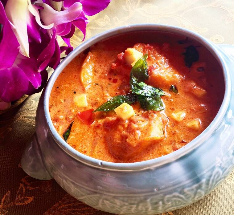 Allepey Fish Curry at The Spice Route at The Imperial, New Delhi celebrates the mango season.
