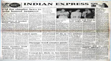 H.R. Gokhale, Minister of Law and Justice H.R. Gokhale, North America, Indira Gandhi, income-tax, Immoral Traffic Act, brothel, prostitution, indian express newspaper, indian express forty years ago