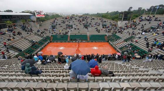 French Open: No play in Paris after first washout in 16 years