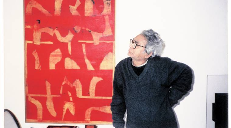 VS Gaitonde, painting, VS Gaitonde painting, Vasudeo Santu Gaitonde: Sonata of Solitude, Saraswati temple, MF Husain, art news, talk news
