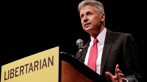 Gary Johnson, Libertarian party, US presidential election, 2016 US Presidential election, Democrats, Republicans, Donald Trump, Hilary Clinton, third party in US presidential election, world news