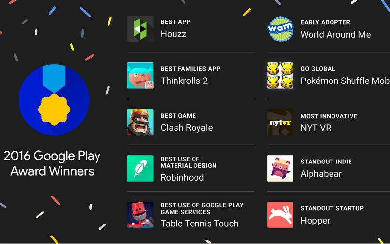 Google, Google Play awards, Google awards, Google Play award winners, best Google app, Google io, Google io announcements, Android, smartphones, technology, technology news