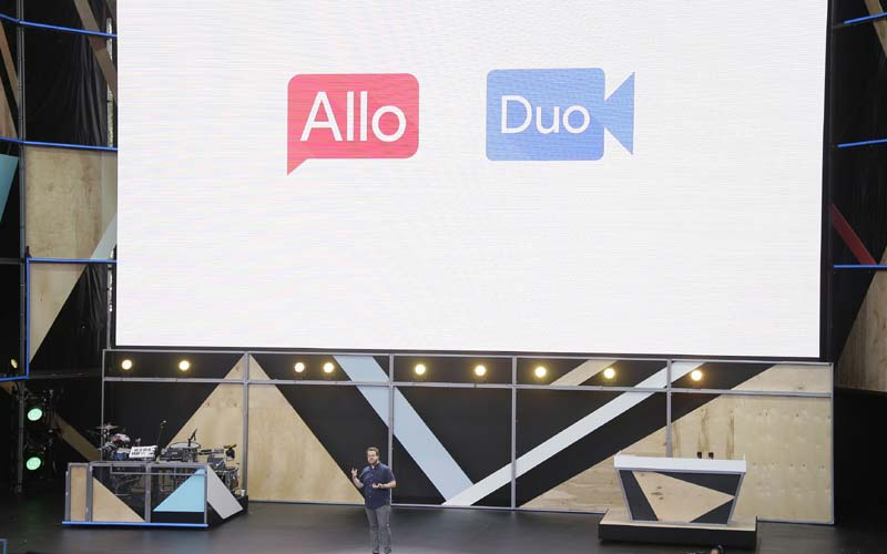 Google, Google I/O 2016, Allo messaging app, Google 2016 I/O, IO 2016, Google Allo app, Google Duo app, Google messaging app, Allo vs WhatsApp, Allo Android, Duo vs FaceTime, technology, technology news