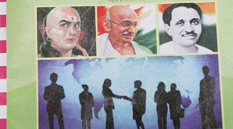 Deendayal, Gandhi, Chanakya, Gujarat,Gujarat schools, Gujarat Class XI economics textbooks, Pandit Deendayal Upadhyaya, gujarat education department, indian express news, india news