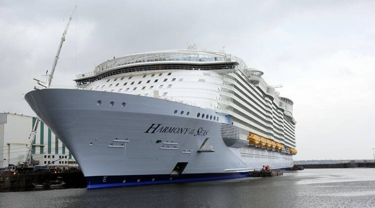 Massive Crowd Sees Off Worlds Largest Cruise Ship Harmony Of The Seas In F