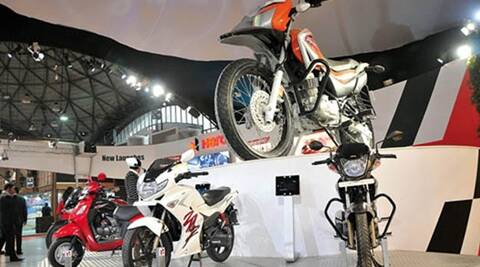 hero, hero motocorp, hero sales, hero sales increase, hero shares rise, hero april sales, business news, market news,