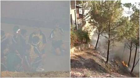 forest fire, himachal pradesh, himachal forest fire, himachal pradesh forest fire, kasauli forest fire, kasauli school forest fire, Sanawar school forest fire, himachal pradesh news, forest fire news, latest news