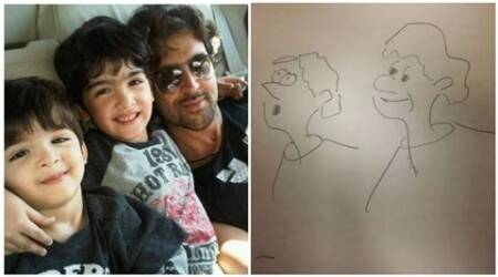 Hrithik Roshan, Hrithik Roshan sons, Hrehaan, Hridaan, Hrithik Roshan drawing, Hrithik, Hrithik Roshan film, Hrithik Roshan upcoming film, entertainment news