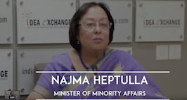 Idea Exchange With Najma Heptulla