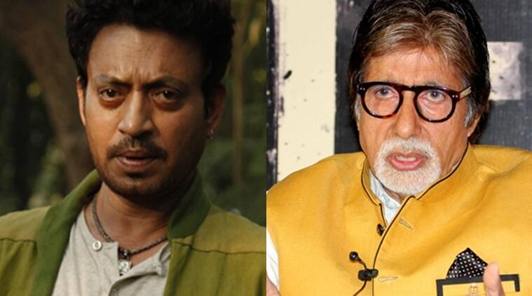 Irrfan khan, Amitabh bachchan, Madaari, te3n, madari te3n clash, irrfan khan upcoming films, amitabh bachchan upcoming films, Entertainment news