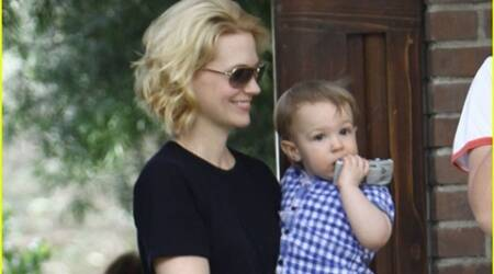 January Jones learns from son