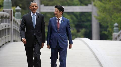 Shinzo Ane, Japan, G7, G7 summit, Japan, Japan PM, Japan Prime Minister, Japan PM Shinzo Abe, G7 leaders, G7 countries, Britain, Canada, France, Germany, Italy, Japan, the United States, Shinzo Abe, ABe, Barack Obama, Obama, US, US president, US president Barack Obama, David Cameron, British PM, Cameron, G7 summit on friday, G7 summit topics, south china sea, Hiroshima, Obama Shinzo Abe, Ise Grand Shrine, Shrine, world news