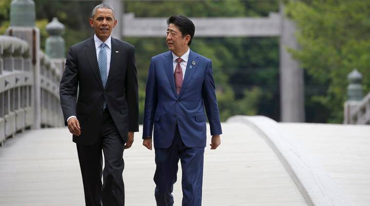 Shinzo Abe, Abe, Japanese Prime Minister, Abe Pearl Harbor visit, Abe Obama meeting, Barack Obama, Obama, President Obama, Japan-US relations, world news, latest news, indian express