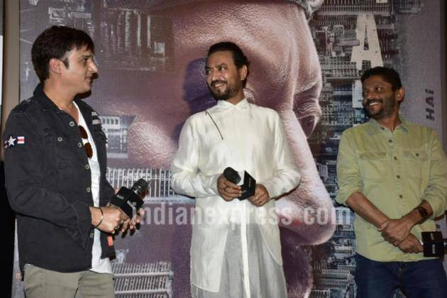 Irrfan Khan, Irrfan Khan Madaari, Irrfan khan wife, Irrfan Khan son, Madaari, Madaari trailer launch, Jimmy Sheirgill, nishikant Kamat, Madaari trailer launch pics, Irrfan, Irrfan madaari, Entertainment news