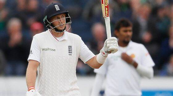 Twin fifties take England to 310/6 on Day 1 against SL