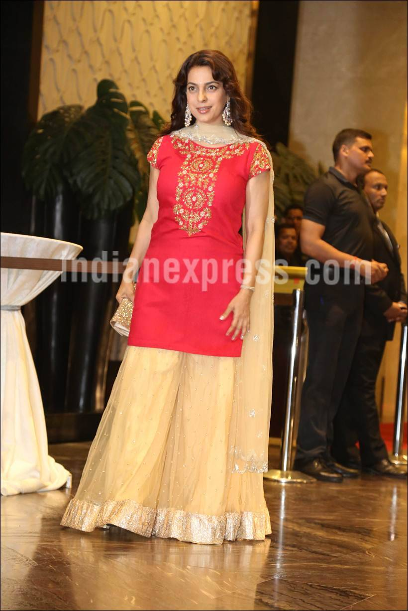 Preity Zinta, Preity Zinta reception, Preity Zinta wedding reception, Gene Goodenough, Juhi Chawla