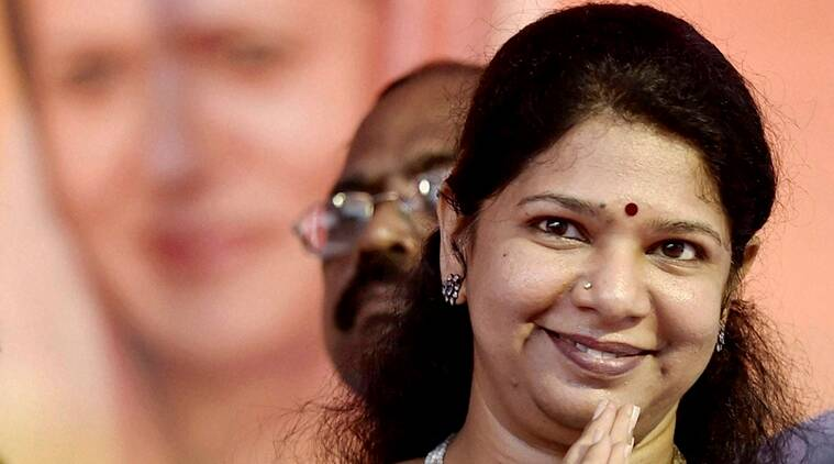 Chennai: DMK Chief M Karunanidhi's daughter Kanimozhi MP at his father' election campaign for Assembly polls at Saidapet in Chennai on Saturday. PTI Photo by R Senthil Kumar(PTI4_23_2016_000184A)