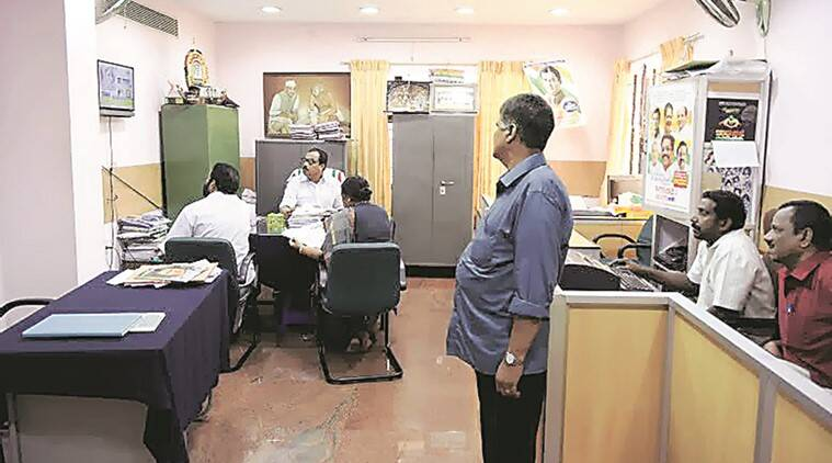 All eyes on TV screen in Congress office in Thiruvananthapuram. Express