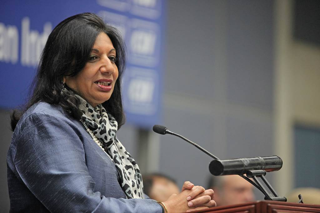 Kiran Mazumdar Shaw, Chairman & Managing Director, Biocon Limited during an interactive session at CII in Sector 31 of Chandigarh on Saturday, 17 2012. Express Photo by Kamleshwar Singh