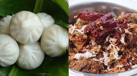 FoodI.E, Express recipes, vegetarian recipes, Kokanastha meal, Kokanastha food, Kokanastha cuisine, Kokanastha recipe, Kokanastha Festival, Konkan food, Konkani cuisine, ukadiche modak, modak recipe, phanas chi bhaji, jackfruit recipe, traditional konkan food,