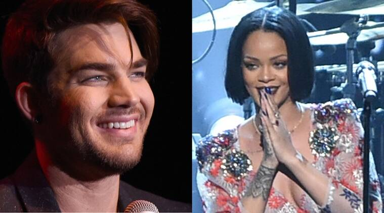 Adam Lambert, Rihanna, Rihanna live, Entertainment news