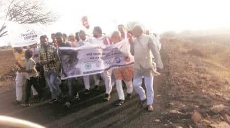 Swaraj Abhiyan begins padyatra in drought-hitLatur