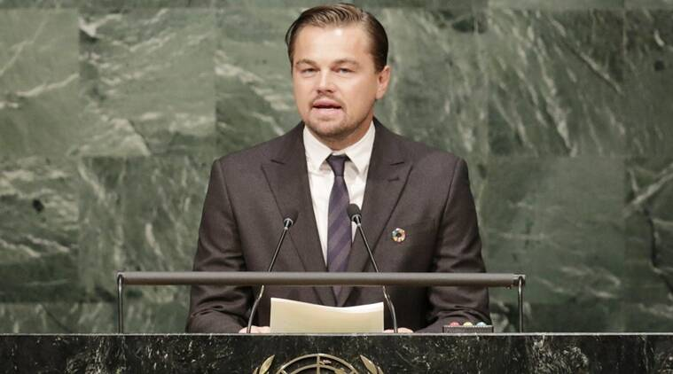 leonardo di caprio climate change, climate change leonardo di caprio, world news, indian express,