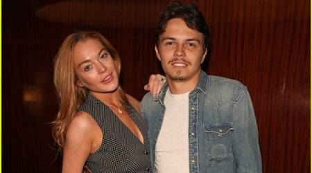 Lindsay Lohan goes public with new Russian fiance