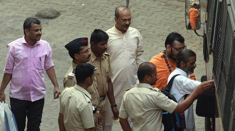 The National Investigation Agency on Friday dropped the names of Sadhvi Pragnya Singh Thakur and four others as 'accused' in the September 2008 Malegaon blasts case, in its charge sheet filed before a Special Court in Mumbai on Firday. Express Photo By Ganesh Shirsekar 13th May 2016