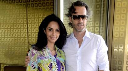 Mallika Sherawat brings French boyfriend Cyrille Auxenfans to India, see pics