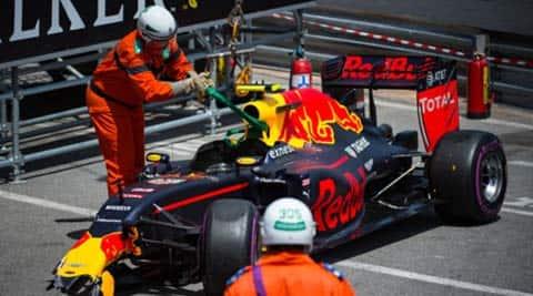 Max Verstappen, Max Verstappen crash, Max Verstappen monaco crash, Max Verstappen red bull, red bull Max Verstappen, Sports
