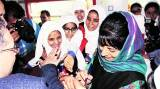 Valley gets new train, Mehbooba Mufti hops on with students