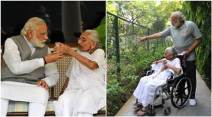 Narendra Modi, Narendra Modi twitter, Narendra Modi twitter pictures, Heeraben Modi, narendra modi mother, PM modi, PM modi mother, india news