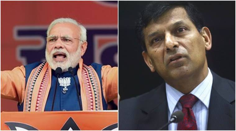 Prime Minister Narendra Modi and RBI Governor Raghuram Rajan in this combination image.