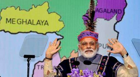 """In Shillong, Modi also talks about football, praises Meghalaya for """"cleanest village"""""""