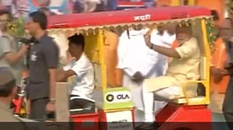 modi, modi e rickshaw