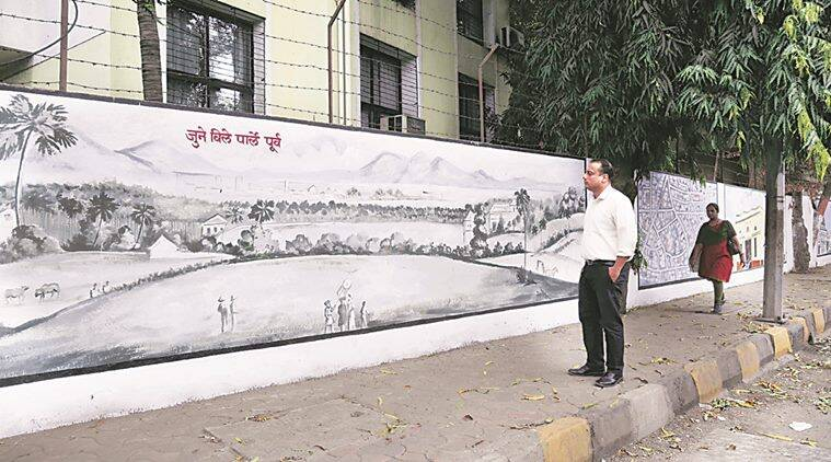 mumbai hyperlocal on vile parle s memory lane a wall of history rh indianexpress com