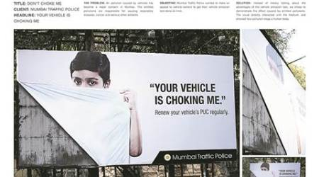 Mumbai traffic police's 'drive-safely' billboard at Babulnath strikes a chord withmotorists