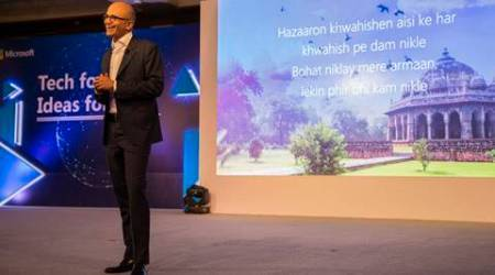 Yes, Microsoft CEO Satya Nadella can quote Mirza Ghalib