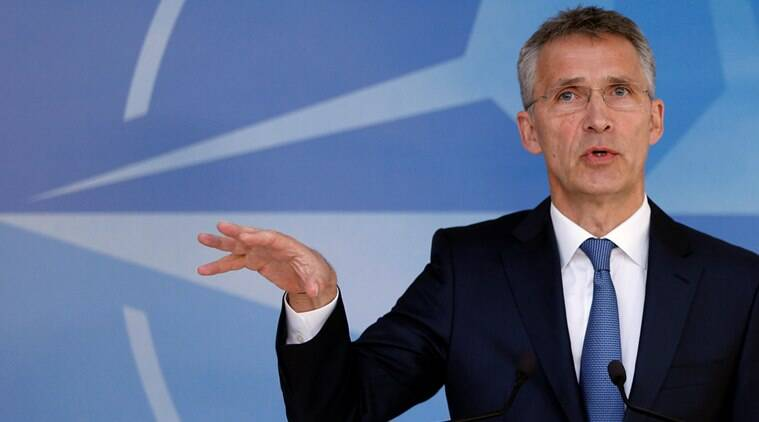 NATO Secretary-General Jens Stoltenberg briefs the media ahead of a NATO foreign ministers meeting at the Alliance headquarters in Brussels, Belgium, May 19, 2016. REUTERS/Francois Lenoir
