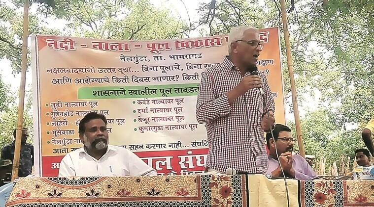 Activists of Bhumkaal Sangathan, an organisation spearheading an anti-Naxal movement in Gadchiroli, demanded building of bridges and laying of roads. Express