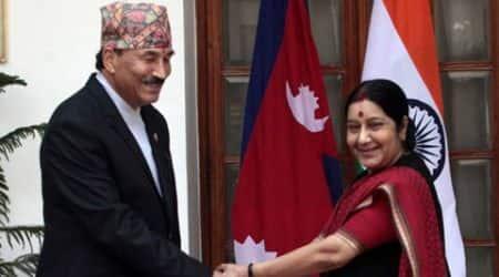 Kamal thapa, nepal india, deputy PM Kamal thapa, Sushma Swaraj, Kamal thapa Sushma Swaraj, South Asian University convocation, cpn-uml nepal, The Communist Party of Nepal, latest news, latest nepal news, latest india news