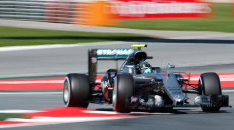 Nico Rosberg leads on 'tricky' day for Lewis Hamilton | The Indian Express